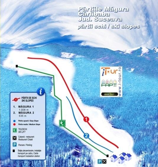 Cârlibaba Piste / Trail Map
