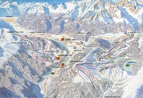 Caspoggio Piste / Trail Map