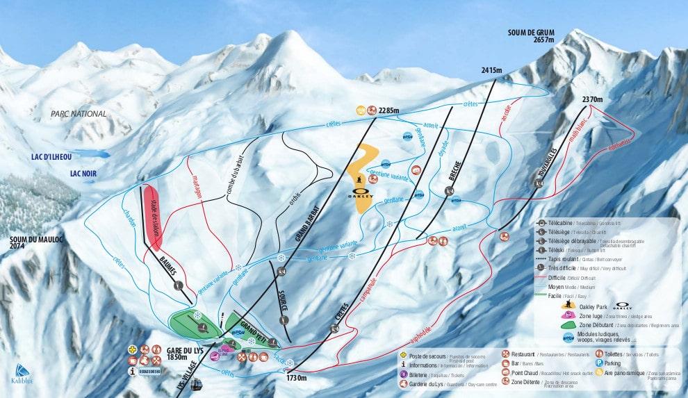 Cauterets Piste / Trail Map