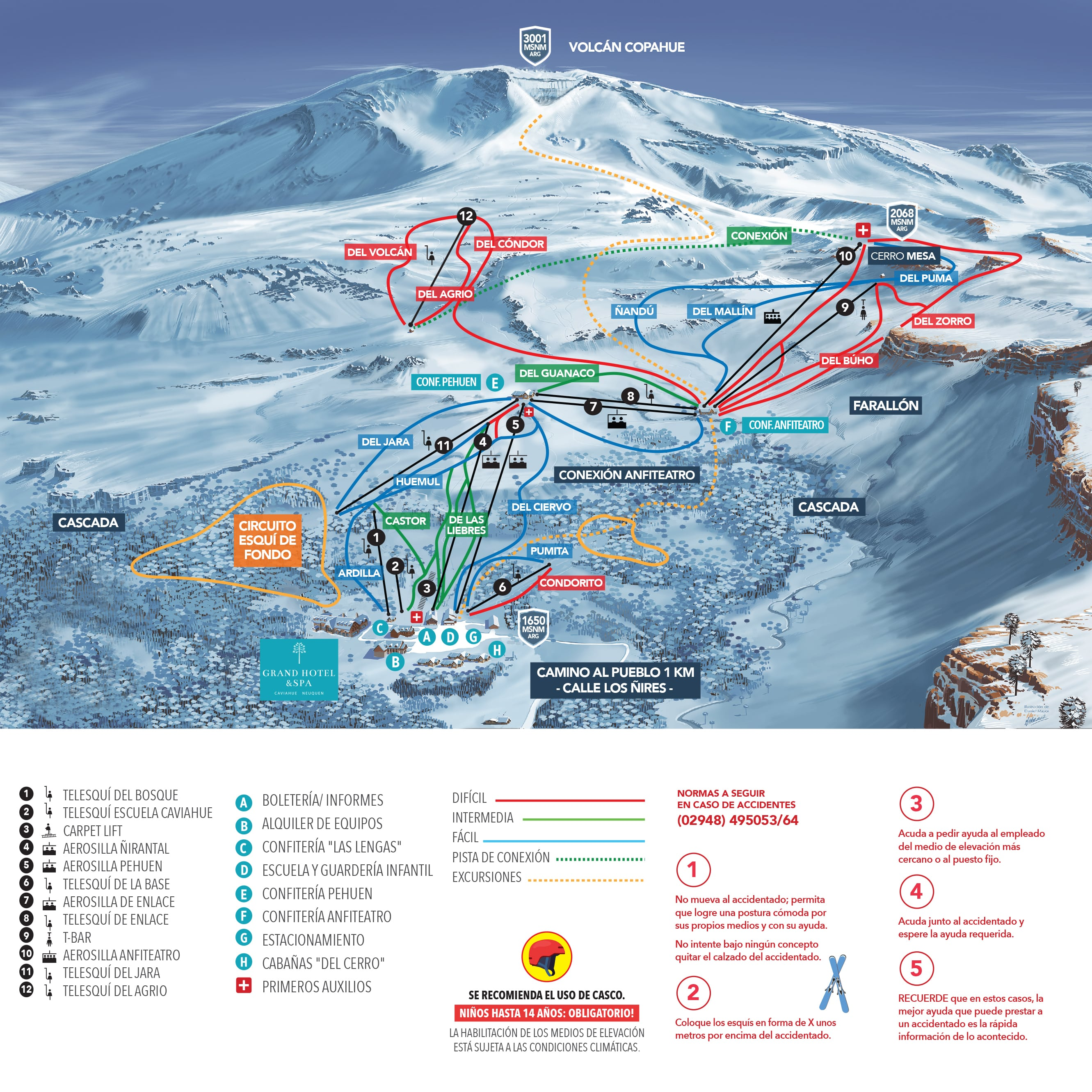 Caviahue Piste / Trail Map