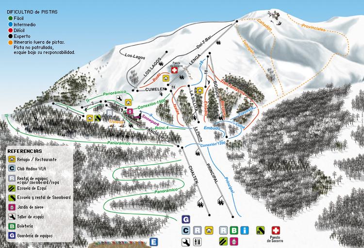 Cerro Bayo Piste / Trail Map