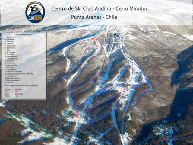 Cerro Mirador Piste / Trail Map