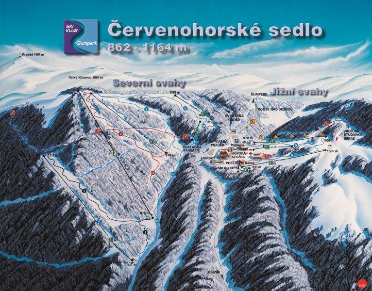 Červenohorské Sedlo Piste / Trail Map