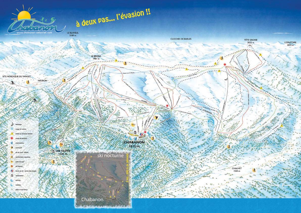 Chabanon Piste / Trail Map