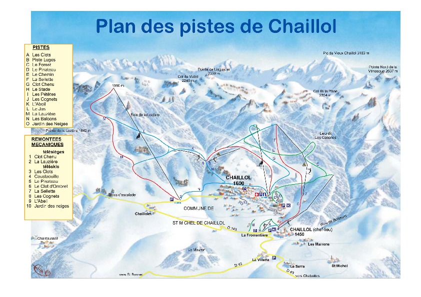Chaillol 1600 Piste / Trail Map