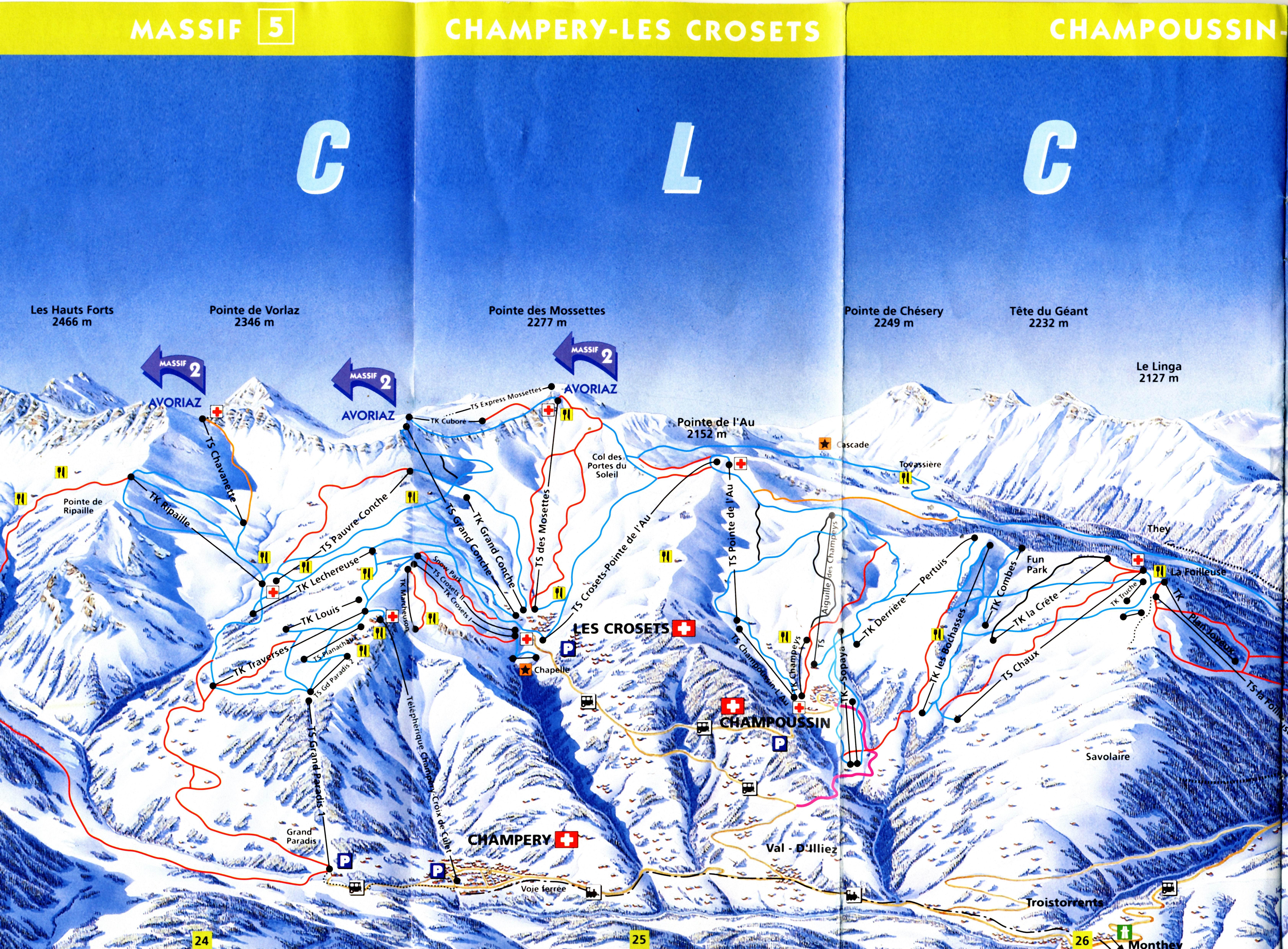 Champéry Piste / Trail Map