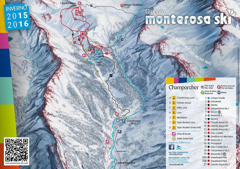 Champorcher Piste / Trail Map