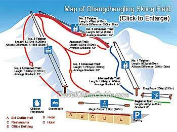 Changchengling Ski Resort Piste / Trail Map