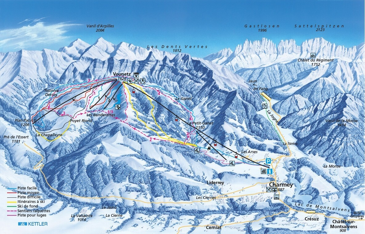Charmey Piste / Trail Map