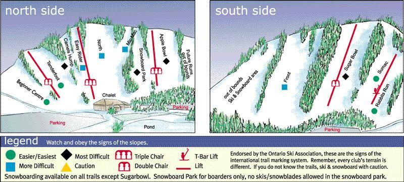 Chicopee Piste Map Trail Map