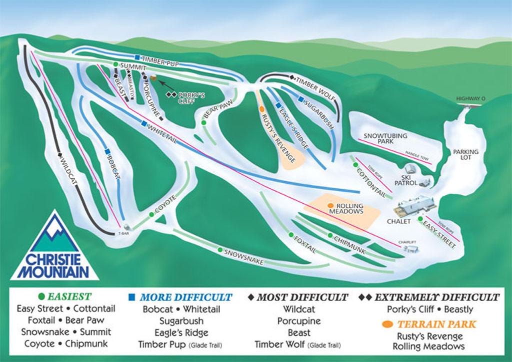 Christie Mountain Piste / Trail Map