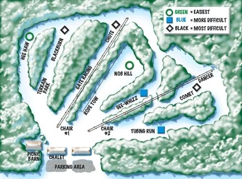 christmas mountain piste trail map - Christmas Mountain Resort