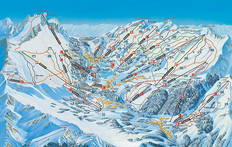 Churwalden Piste / Trail Map