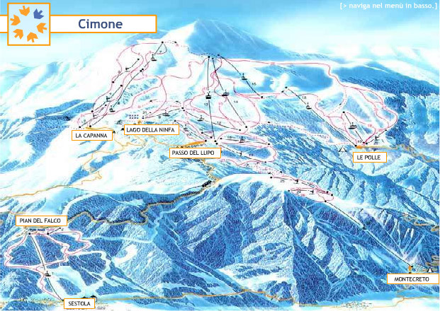 Cimone Piste Map Trail Map