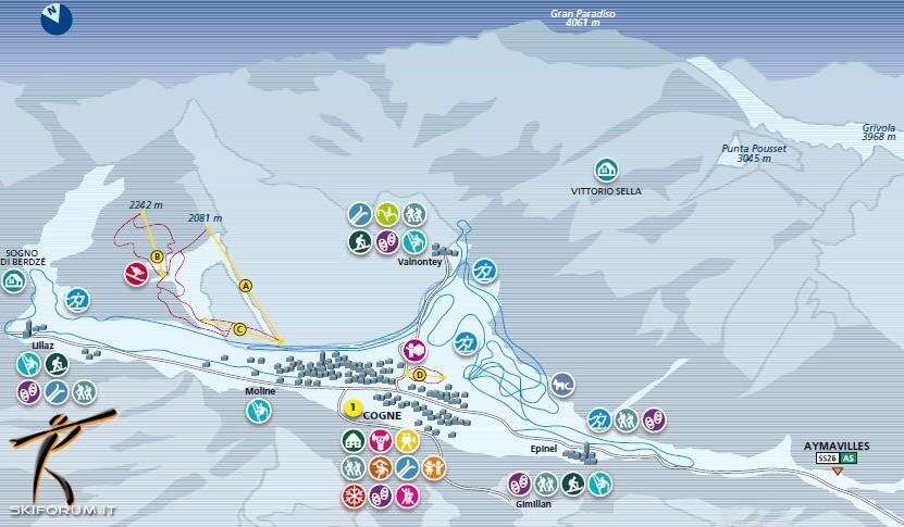 Cogne Piste / Trail Map