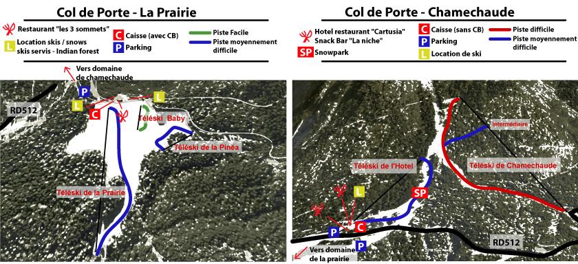 Col de Porte Piste / Trail Map
