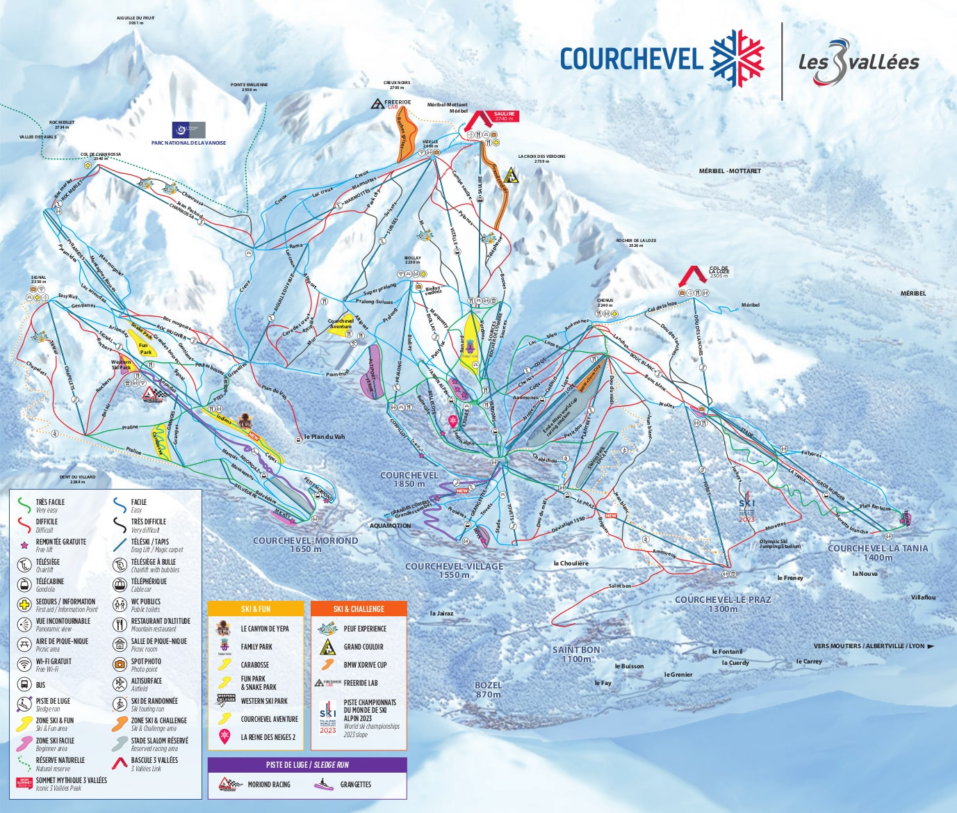 Courchevel Piste / Trail Map