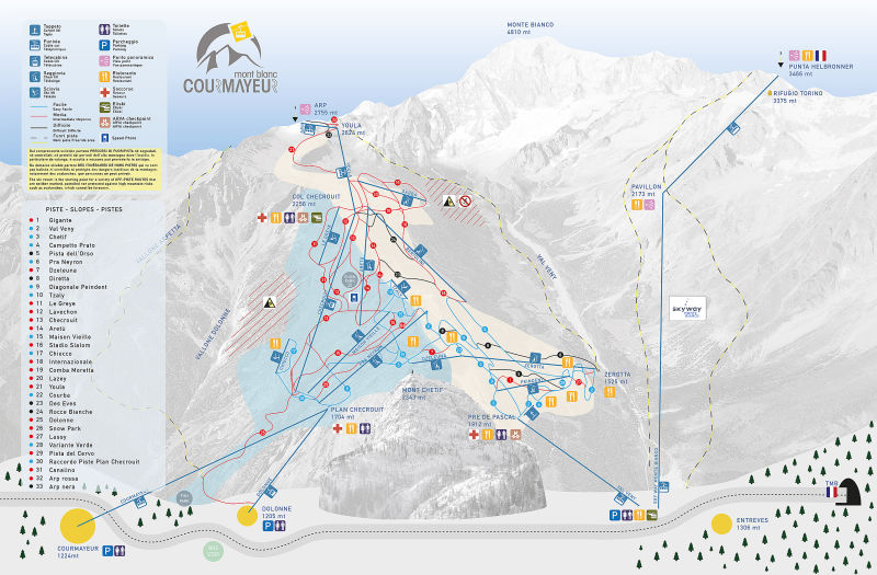 Courmayeur Piste Map Trail Map