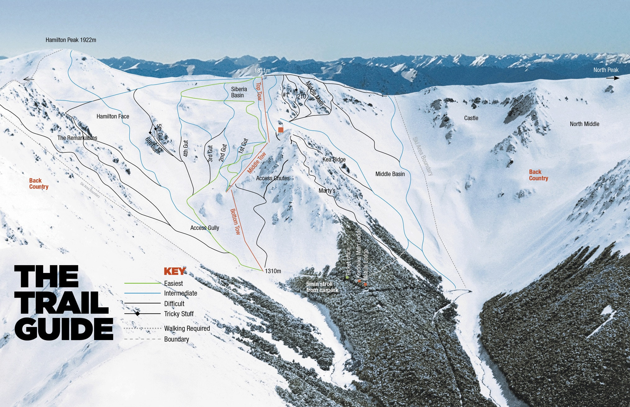 Craigieburn Piste / Trail Map