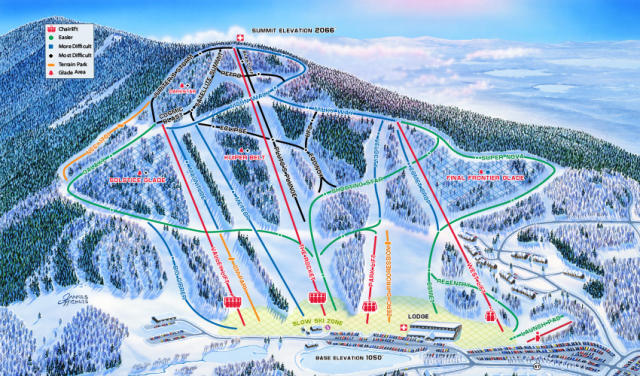 Crotched Mountain Piste / Trail Map