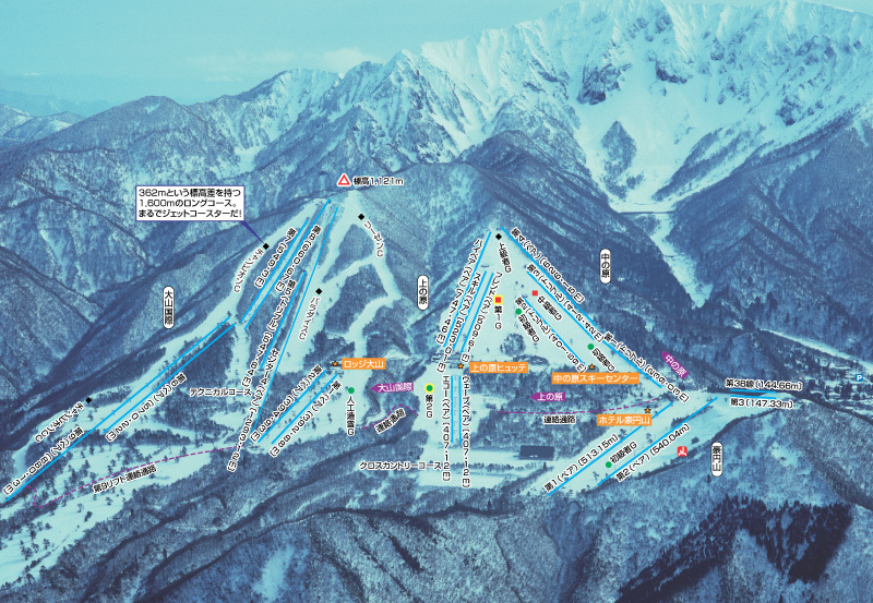 Daisen Uenohara Piste / Trail Map