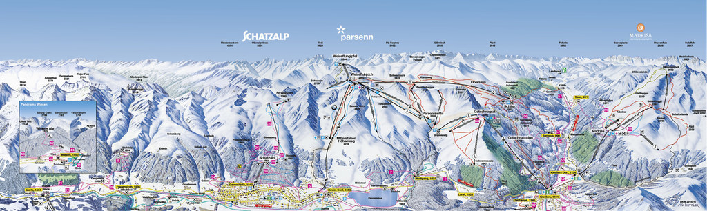 Davos Piste Map / Trail Map