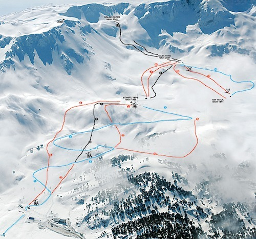 Davraz Piste / Trail Map