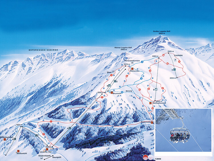 Defereggental/St Jakob Piste / Trail Map