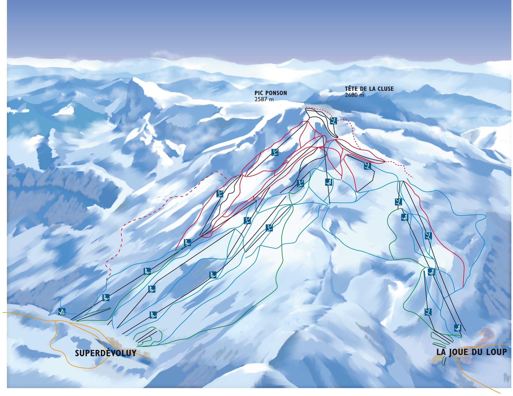 Dévoluy Piste / Trail Map