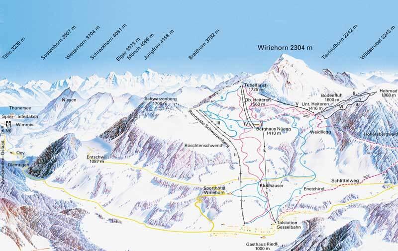 Diemtigtal - Wiriehorn Piste / Trail Map