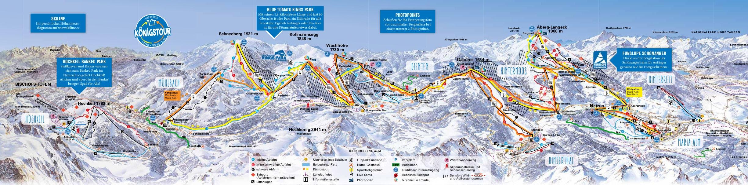 Dienten Piste / Trail Map