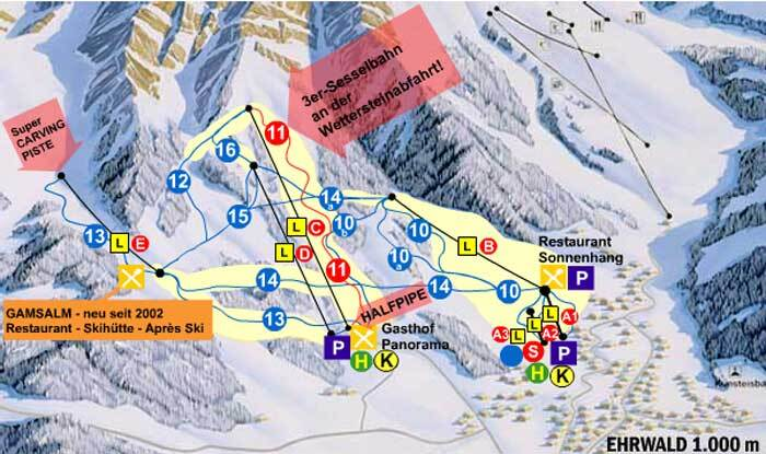 Ehrwald Piste / Trail Map