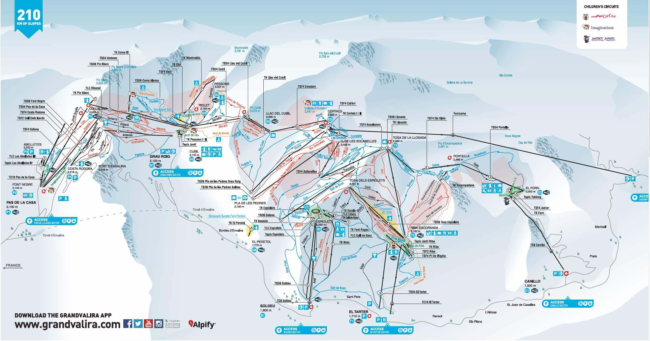 Soldeu Piste Map Grandvalira Soldeu Piste Map / Trail Map Soldeu Piste Map