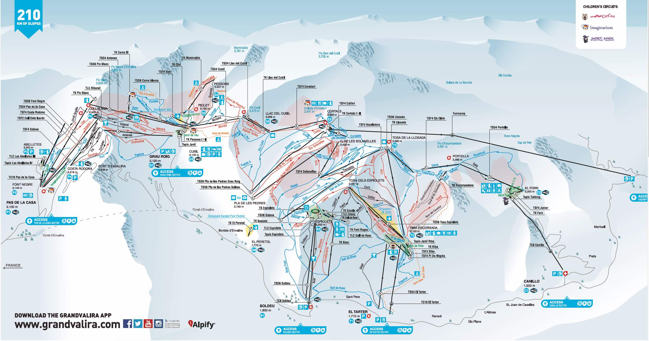 Image result for grandvalira piste map