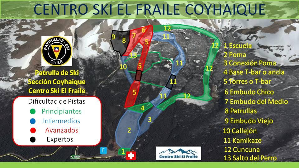 El Fraile Piste / Trail Map