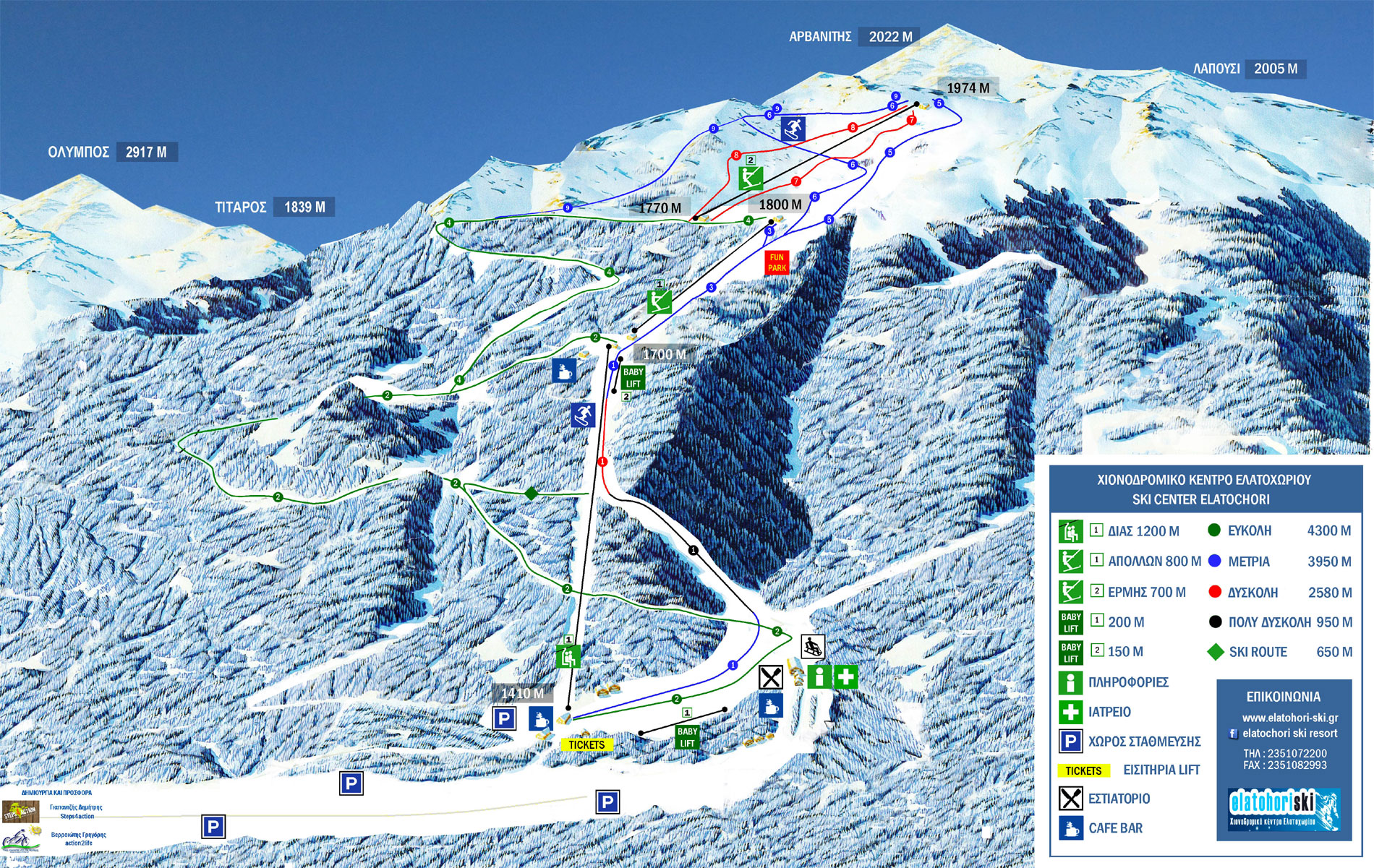 Elatohori Pierias Piste / Trail Map