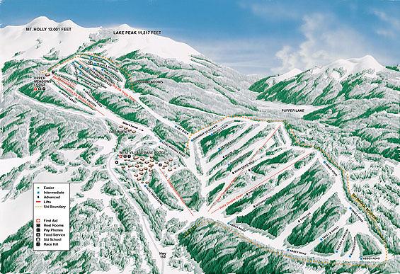 Elk Meadows Piste / Trail Map