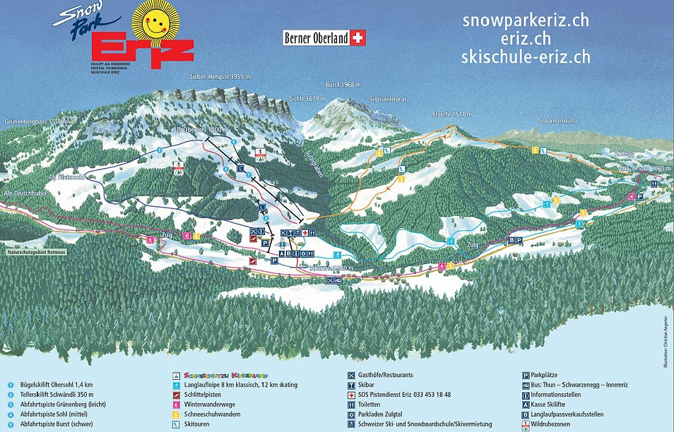 Eriz Piste / Trail Map