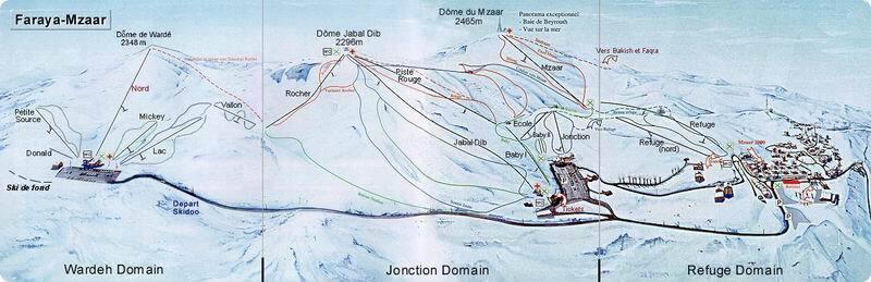 Mzaar Ski Resort Piste / Trail Map