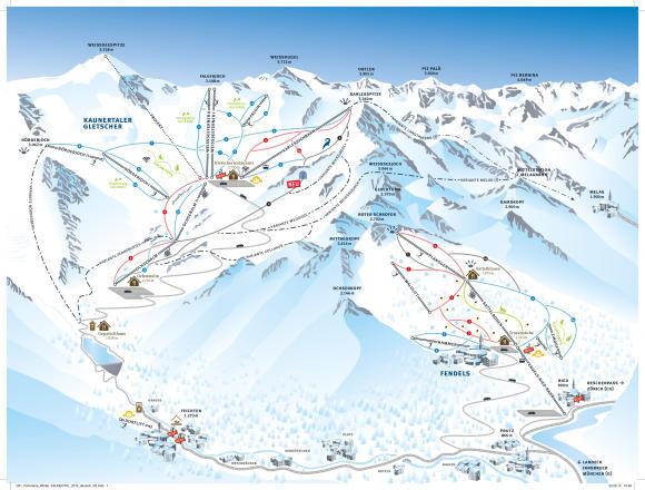 Fendels Piste / Trail Map