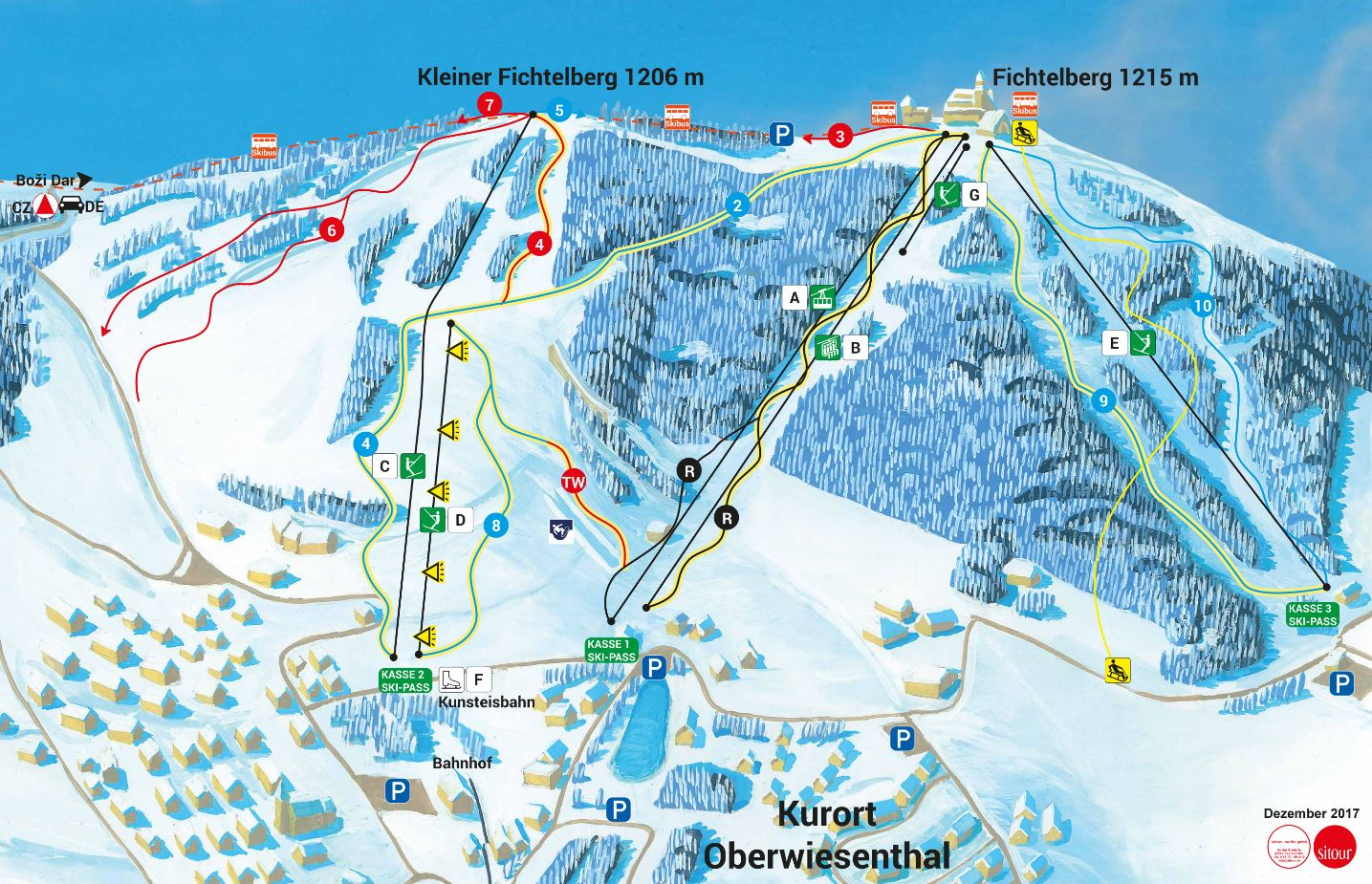 Fichtelberg Piste / Trail Map