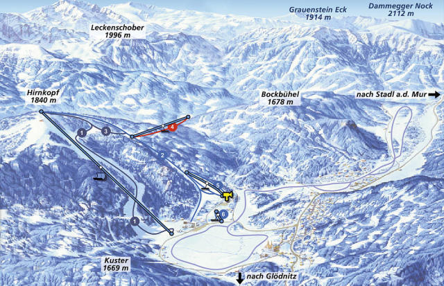 Flattnitz Piste / Trail Map