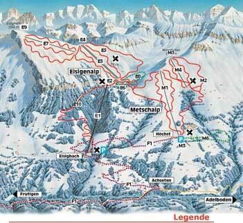 Frutigen - Elsigen - Metsch Piste / Trail Map