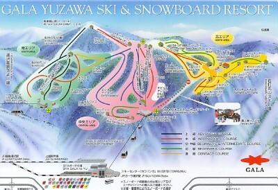 Gala Yuzawa Piste / Trail Map