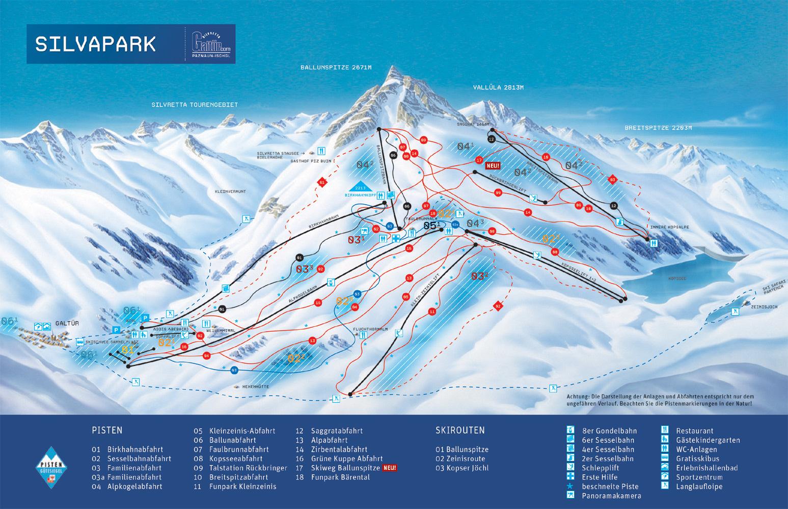 Galtur Silvapark Ski Resort Guide Location Map Amp Galtur