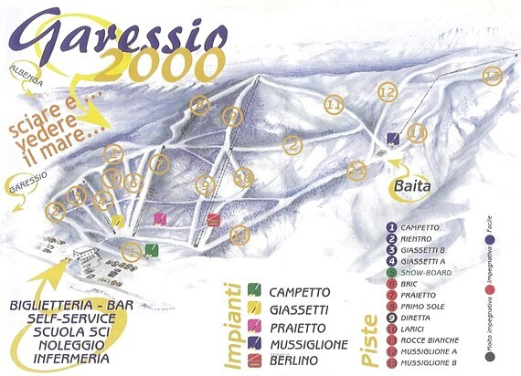 Garessio 2000 Piste / Trail Map