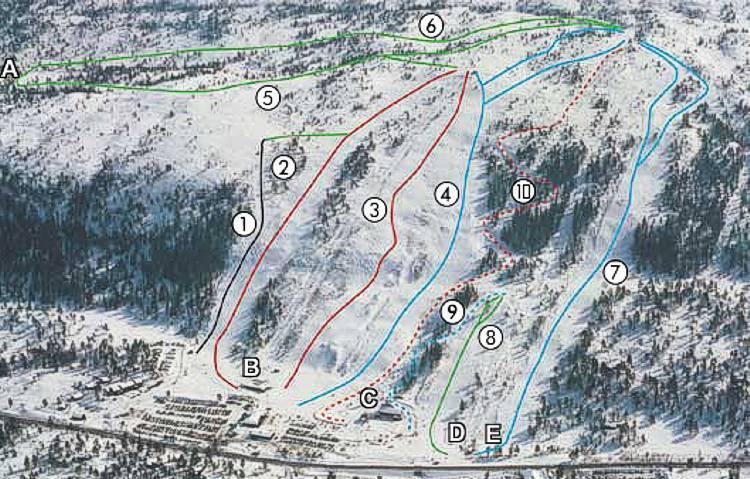 Gautefall Piste / Trail Map