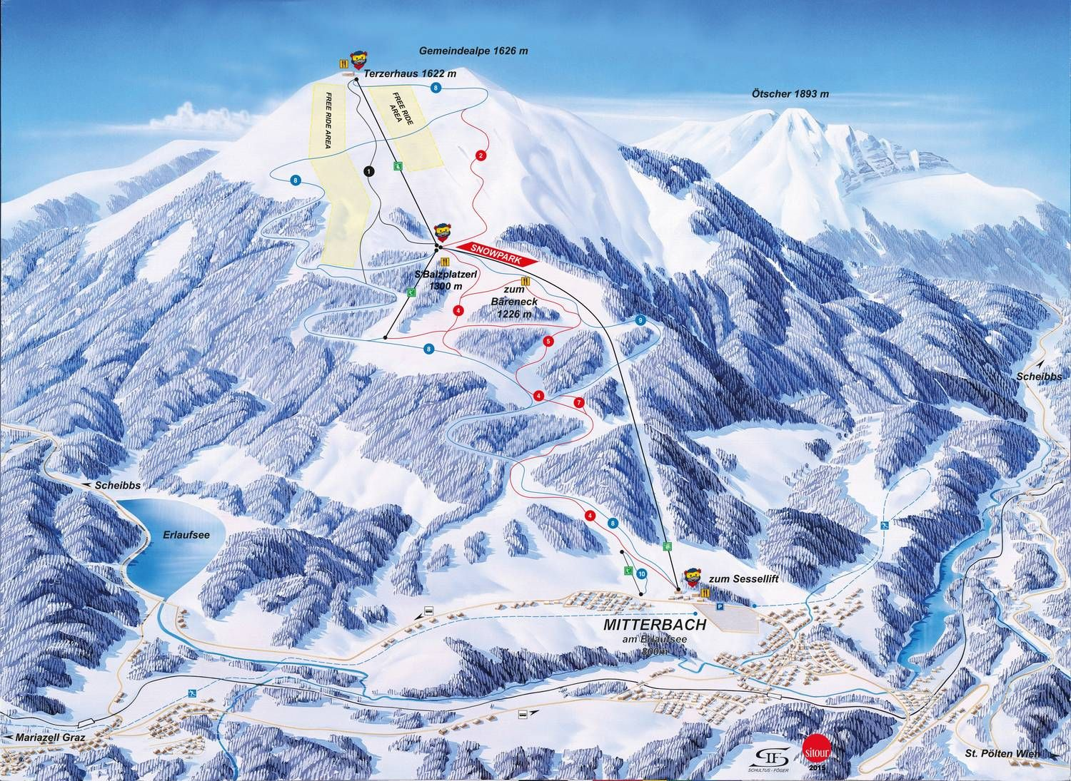 Gemeindealpe Piste / Trail Map