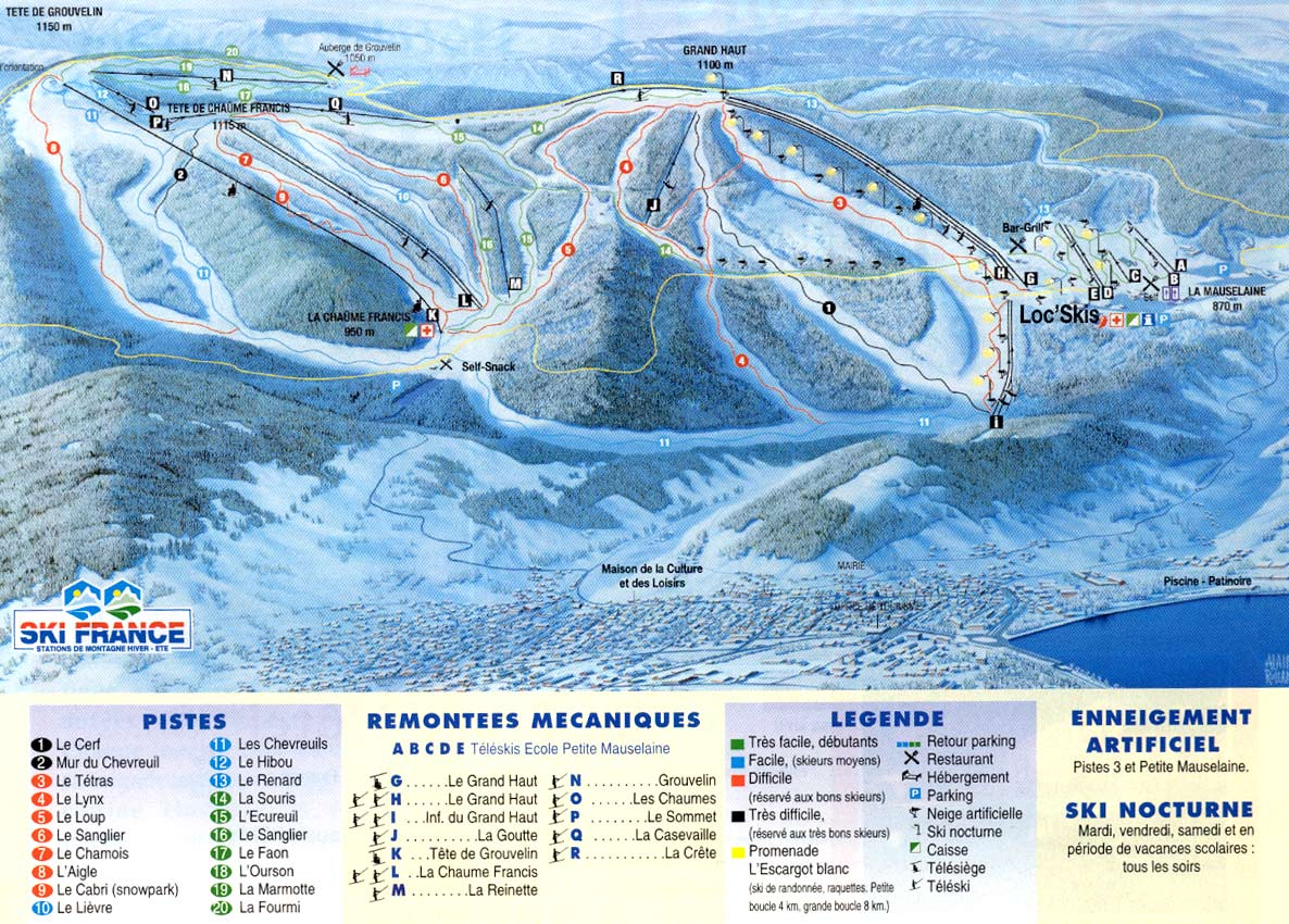 Gérardmer Piste / Trail Map