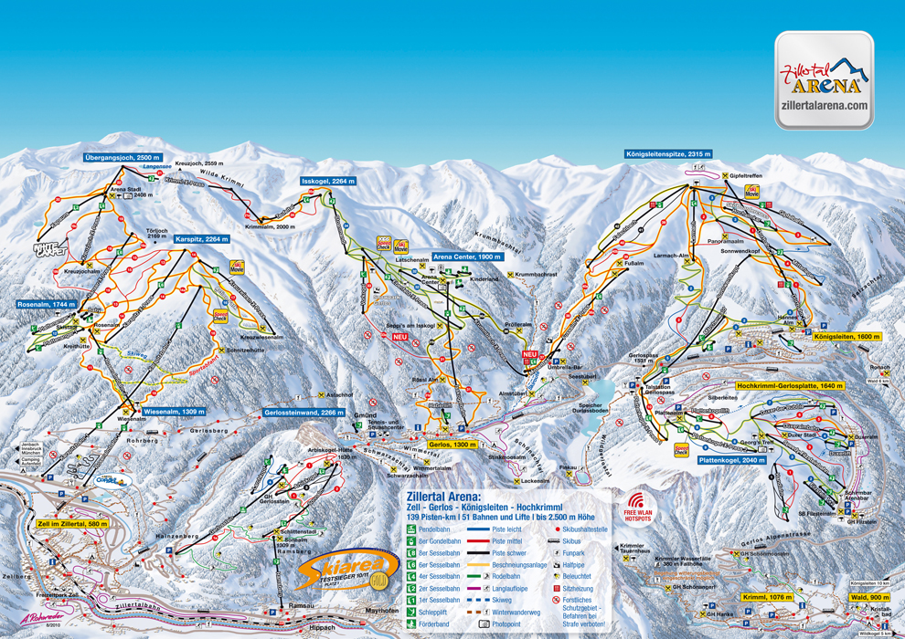 Gerlos Piste / Trail Map